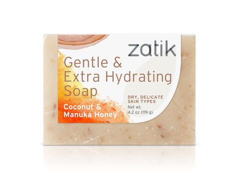 Zatik Gentle & Extra Hydrating Soap (Coconut & Manuka Honey)
