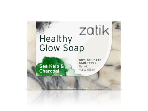 Zatik Healthy Glow Soap (Sea Kelp & Charcoal)