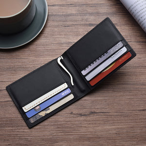 Carbon FIber-Money wallet Clip RFID Blocking Driver License ID Cash