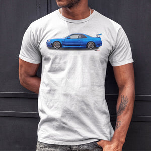 Nissan Skyline GTR White T-Shirt