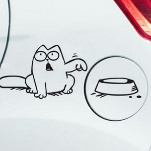 Hungry Simon's Cat Bowl Vinyl Sticker Decal
