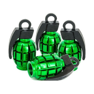 Green Grenade Tire Valve Stem Caps (Set of 4)