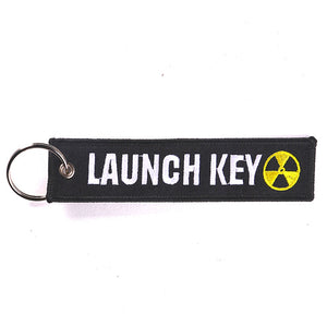 Black Launch Key Tag