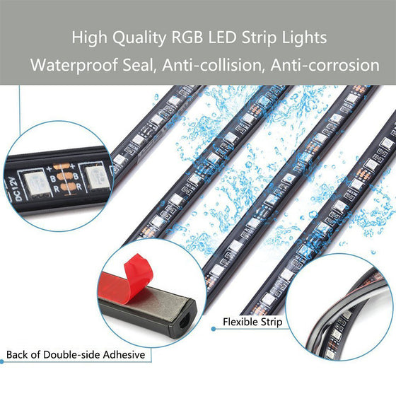 Car Interior LED Light Kit with Remote Control