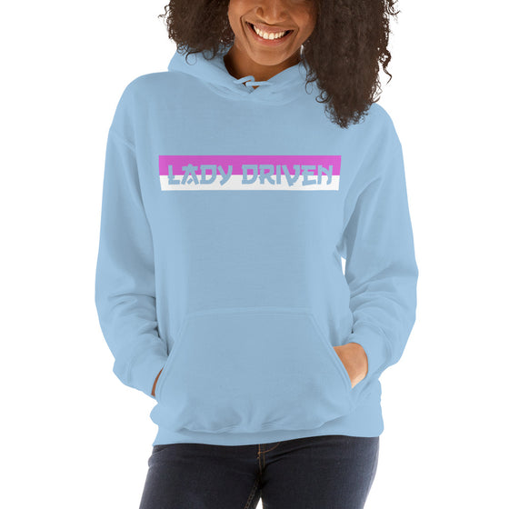 Lady Driven Banner Hoodie - Powder Blue