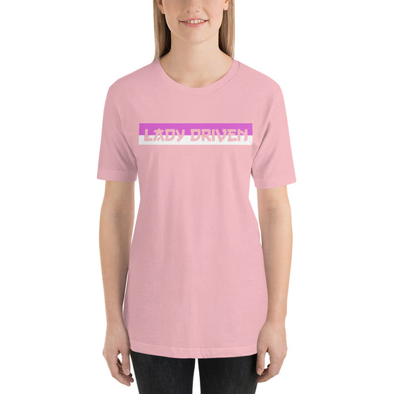 Lady Driven Banner Tee - Light Pink