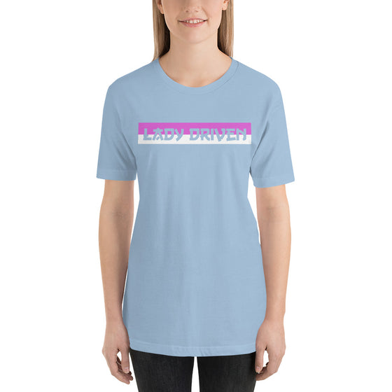 Lady Driven Banner Tee - Powder Blue