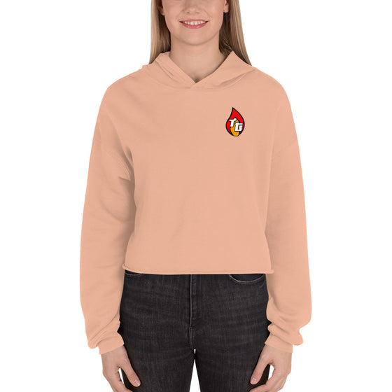 Traditions Crop Hoodie - Peach