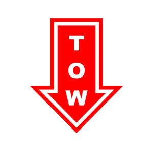 Red Tow Hook Vinyl Sticker Decal