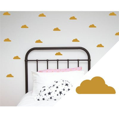 100 Percent Heart Wall stickers - clouds gold