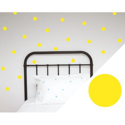 100 Percent Heart Wall stickers - dots yellow