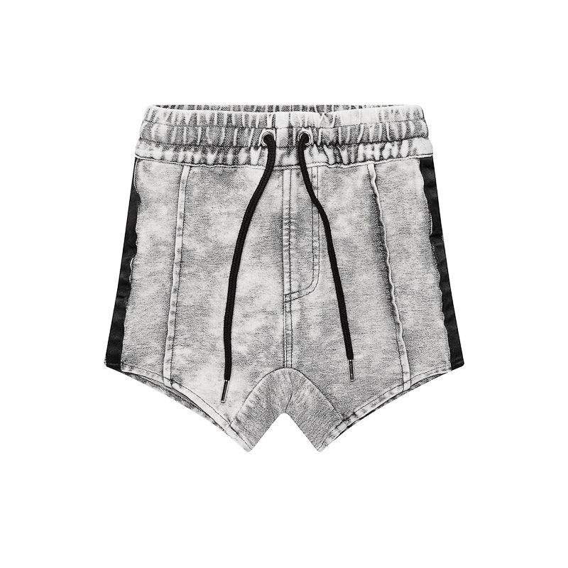 Adam + Yve Axel Shorts - Light Grey Acid Wash Shorts Adam + Yve - Little Styles