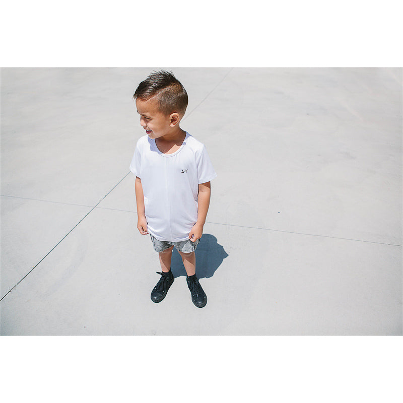 Adam + Yve White Panel Tee Tops Adam + Yve - Little Styles
