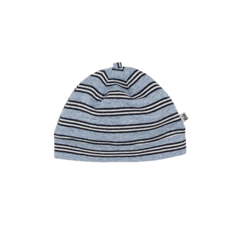 Bebe Tobias Stripe Beanie with Band -  Blue Stripe