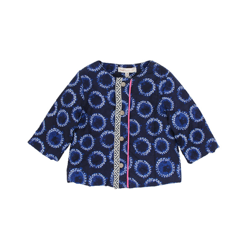 Fox & Finch Baby Moonlight Print Jacket in Blue Jackets Fox & Finch Baby - Little Styles
