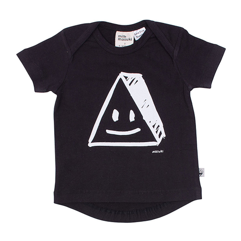 Milk & Masuki Triangle Face Short Sleeve Tee