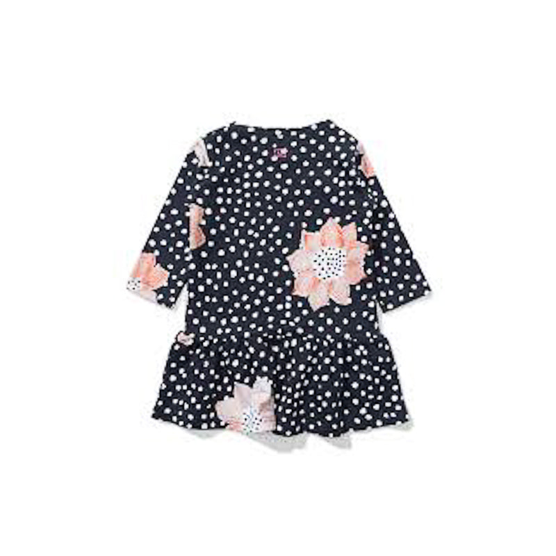 Missie Munster Lily Black Floral Dresses Munster - Little Styles