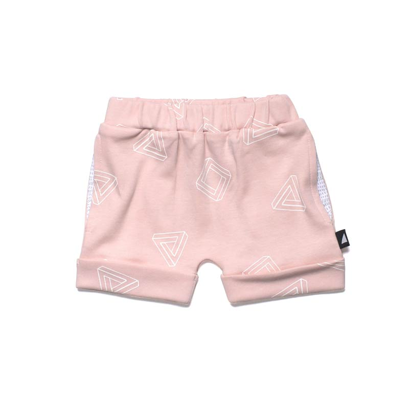 Anarkid 3D Contrast Shorts Pink Pants Anarkid - Little Styles