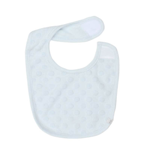 Bebe Bib With Circles Reversible Velcro in Blue