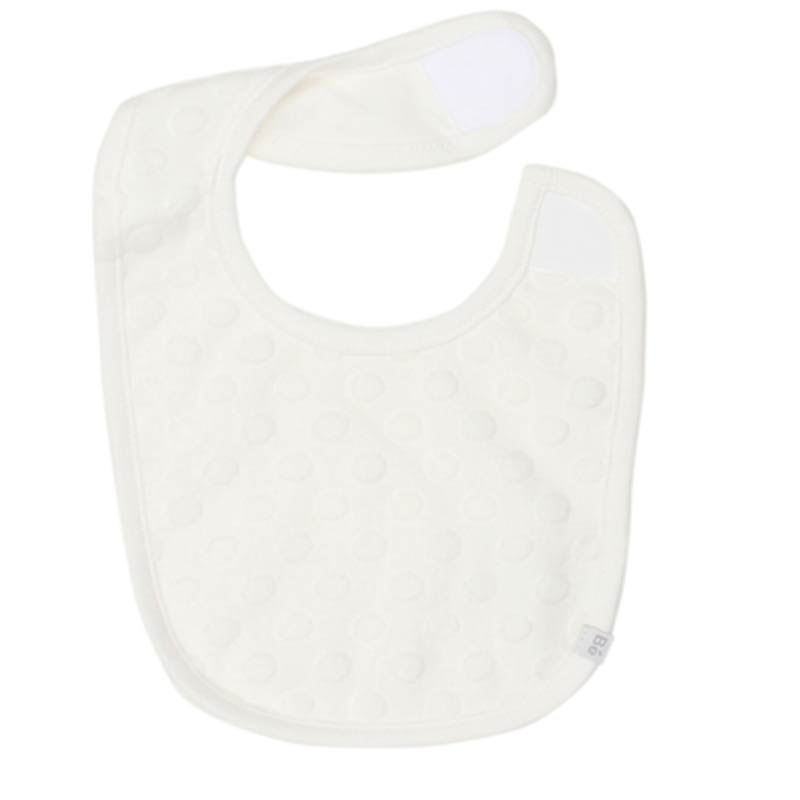 Bebe Bib With Circles Reversible Velcro in Cloud White Accessories Bebe - Little Styles