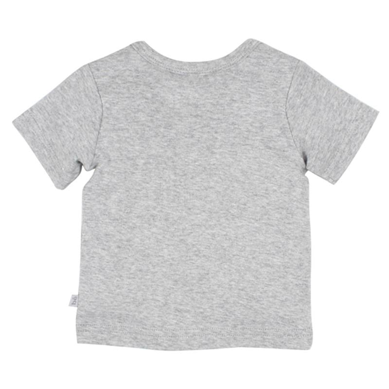 Bebe Oscar Short Sleeve Whale Tee in Grey Tops Bebe - Little Styles