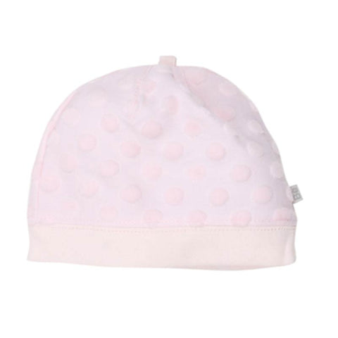 Bebe Circles Beanie with Band in Pink