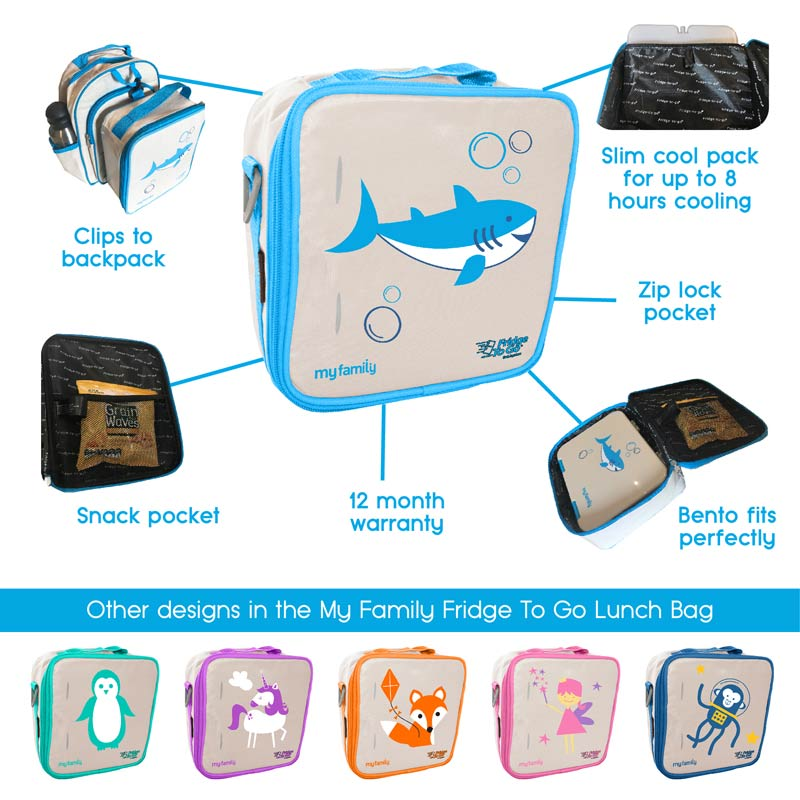 My Family Monkey Lunch Bag Fridge to Go Bags My Family - Little Styles