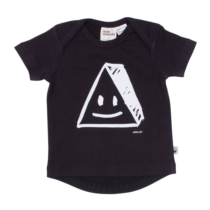 Milk & Masuki Short Sleeve Tee Triangle Face Tops Milk & Masuki - Little Styles