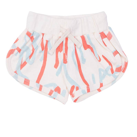 Milk & Masuki Baby Girl Shorts Twombly Meterage in Red & Blue