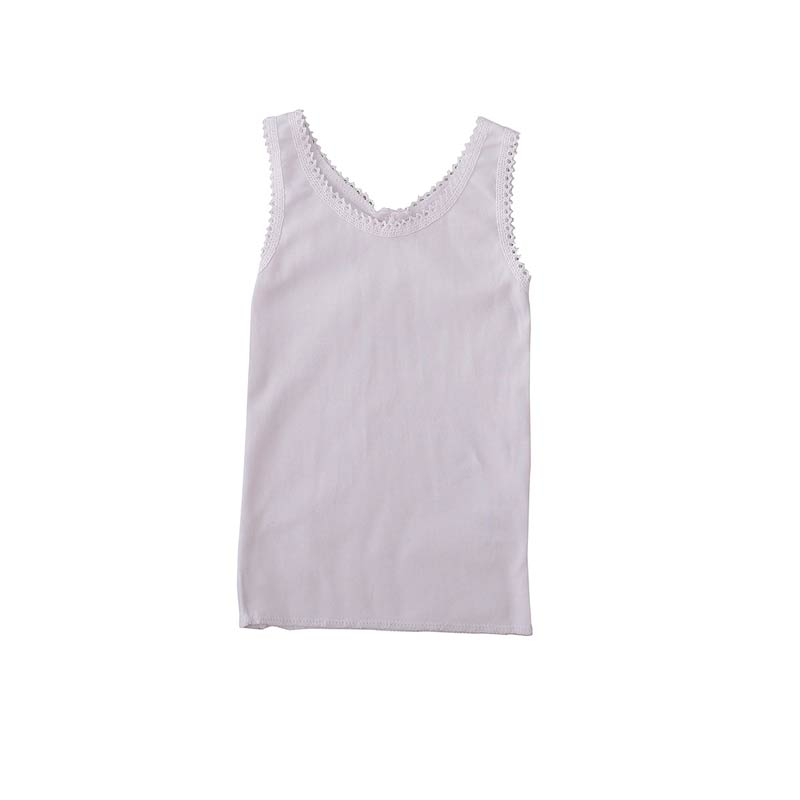 Peggy Julia Singlet in White Tops Peggy - Little Styles