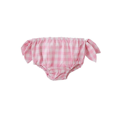 Peggy Lux Nappy Cover in Pink Check