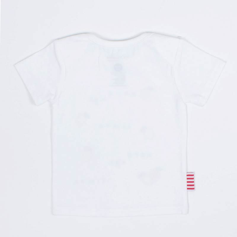 SOOKIBaby Bon Bon Tee in White And Red Tops SOOKIBaby - Little Styles