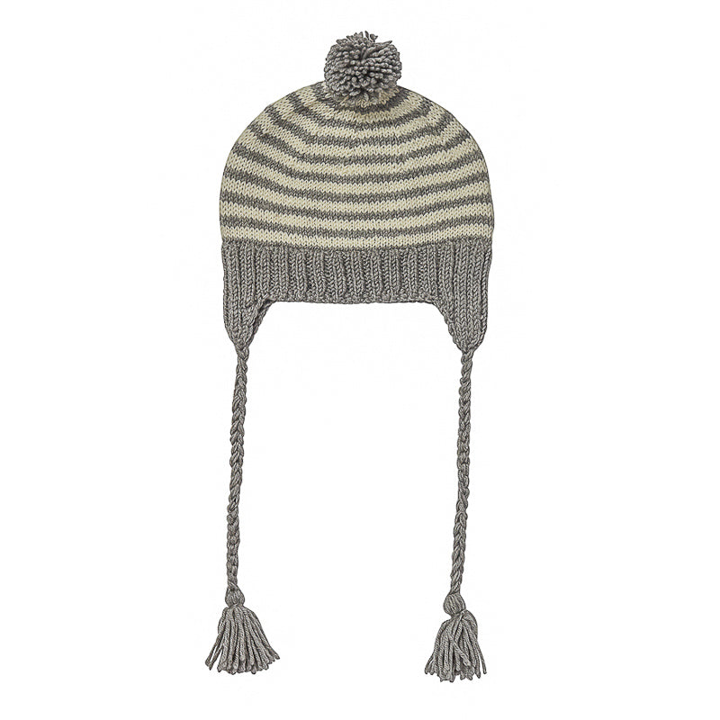 Acorn Adventure Beanie Grey Stripe Beanies Acorn - Little Styles