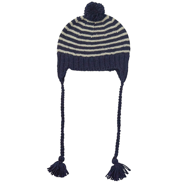 Acorn Adventure Beanie Navy Blue Stripe Beanies Acorn - Little Styles