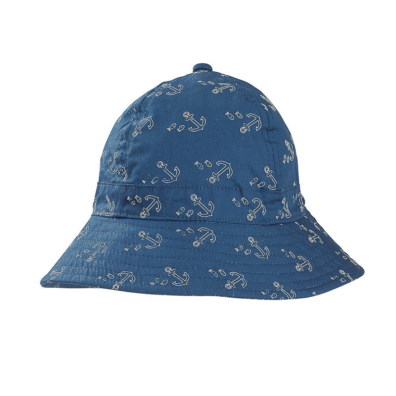 Fox & Finch Baby Safari French Terry Denim Sunhat