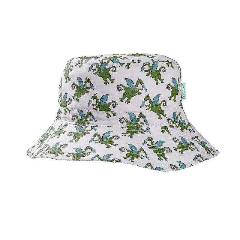Acorn Dragons Bucket Hat - Grey and Multi Hats Acorn - Little Styles