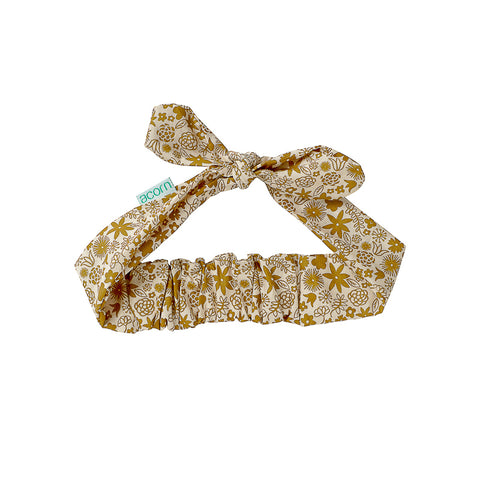 Acorn Golden Hour Headwrap - Gold and Cream