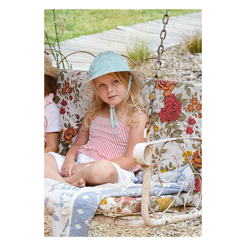 Acorn Mermaid Reversible Hat - Turquoise Hats Acorn - Little Styles