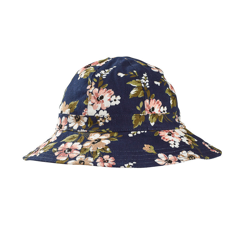 Acorn Midnight Dreamer Floppy Hat - Navy Floral Hats Acorn - Little Styles