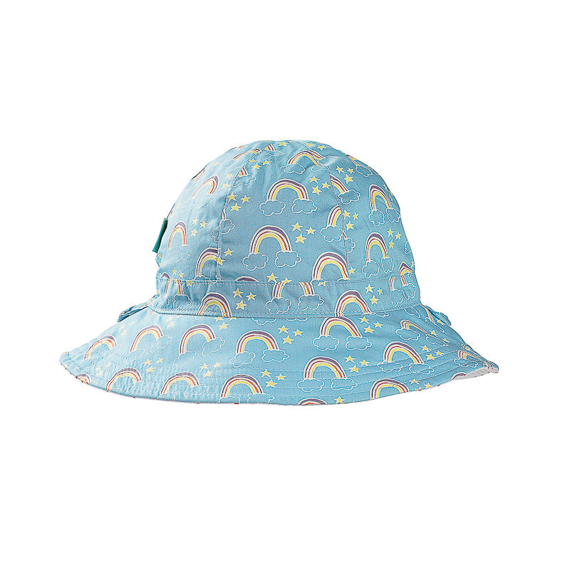 Acorn Over The Rainbow Reversible Hat - Blue and Multi Hats Acorn - Little Styles