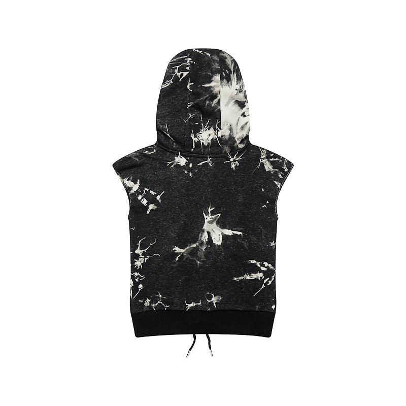 Adam + Yve Byron Hoodie - Black Acid Wash Tops Adam + Yve - Little Styles