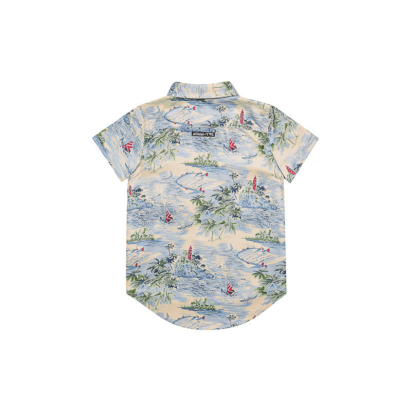 Adam + Yve Hawaii Zip Shirt - Hawaiian Print Tops Adam + Yve - Little Styles