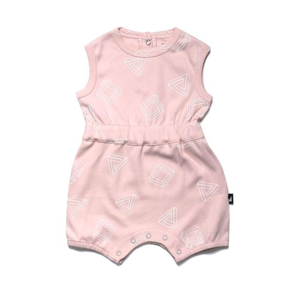 Anarkid Triangle Pink Romper Onesies Anarkid - Little Styles