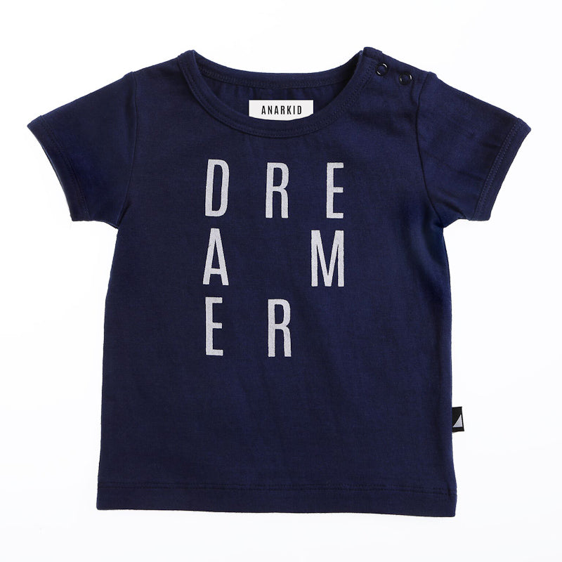 Anarkid Dreamer Short Sleeve Tee - Navy Tops Anarkid - Little Styles