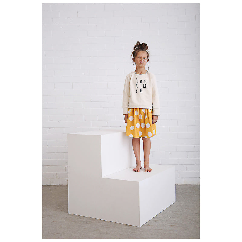 Anarkid Spot AOP Skirt - Mustard Skirts Anarkid - Little Styles
