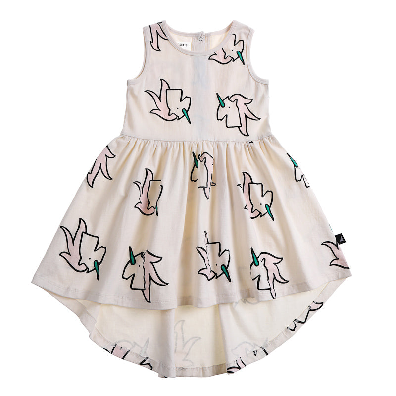 Anarkid Unicorn AOP Sleeveless Dress - Primrose Pink Dress Anarkid - Little Styles