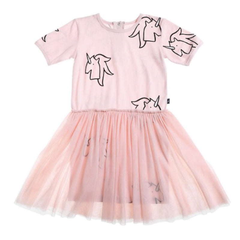 Anarkid Unicorn Tutu Dress - Primrose Pink Dresses Anarkid - Little Styles