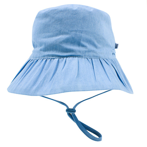 Bebe Abby Chambray Sun Hat - Light Chambray