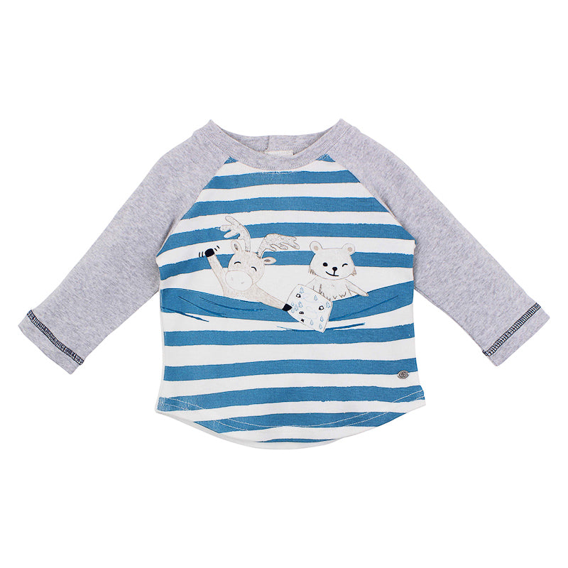 Bebe Alexander Stripe Animal Tee - Multi