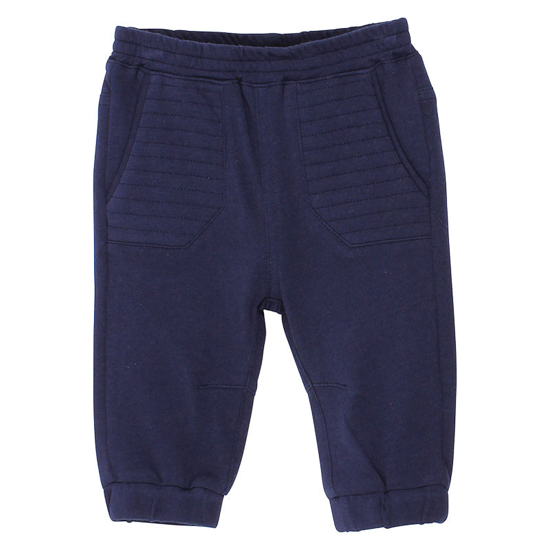 Bebe Alexander Trackpants with Quilting Detail - Navy